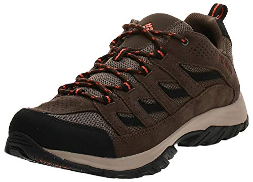 Columbia Men's Crestwood Hiking Shoe Breathable, High-Traction Grip, Camo Brown, Heatwave, 10.5