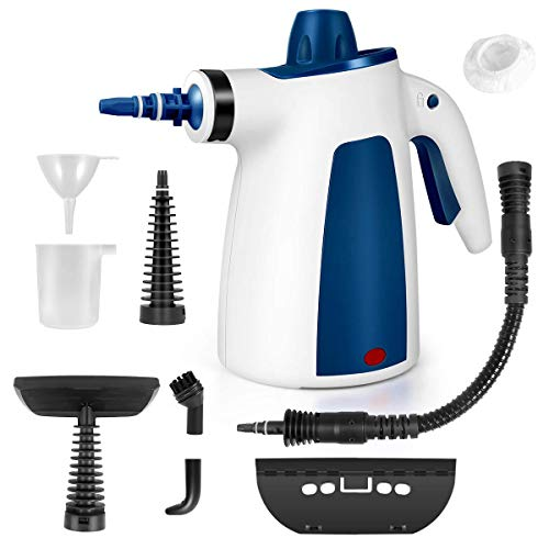 BIIBeSeamu FunDADYUS Steam Cleaner, Portable Car Carpet Upholstery Cleaner Machine High Pressure Steamer with 9 Piece Accessories