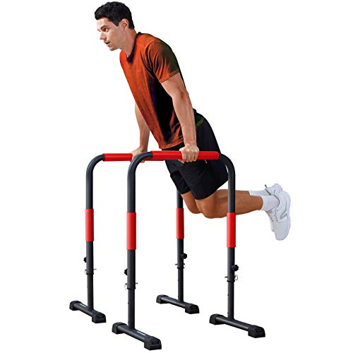 Sportsroyals Dip Station Dip Bar Parallel Bars for Home Workout with 400 LBS Loading Capacity