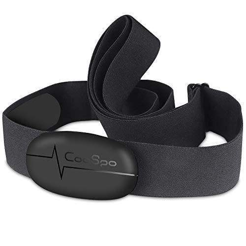 CooSpo Heart Rate Monitor Chest Strap Bluetooth 4.0 ANT+ Waterproof HR Sensor for Wahoo Peloton Zwift Polar DDP Yoga Map My Ride Garmin Sports Watches