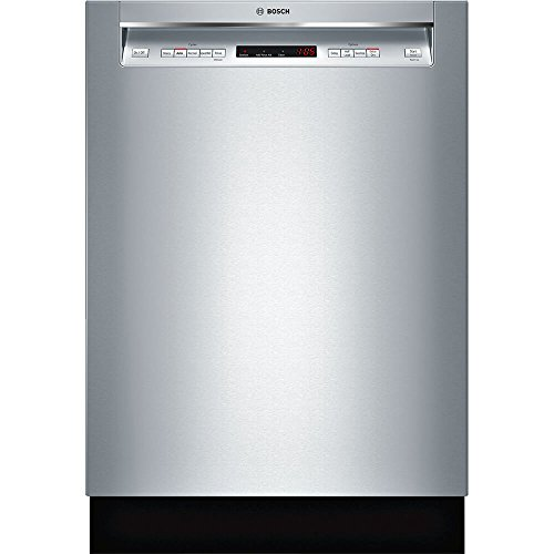 Bosch SHEM63W55N 24' 300 Series Built In Full Console Dishwasher with 5 Wash Cycles,in Stainless Steel