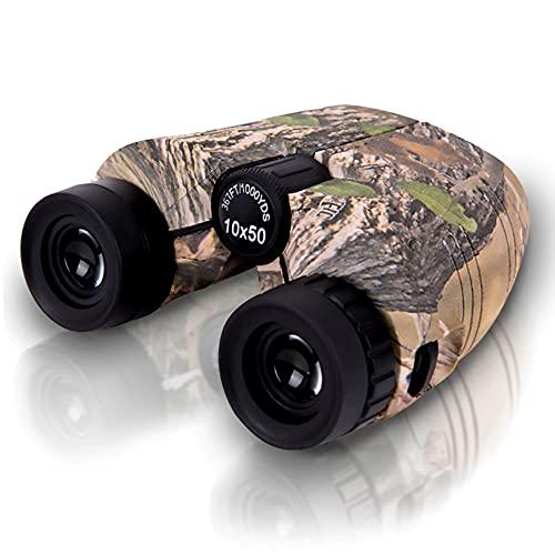10x50 Compact Binoculars with Low Light Night Vision, Large Eyepiece Water/Fog Proof Binocular for Adults & Kids, Easy Focus for Bird Watching, Hunting, Travel, High Power Binocular