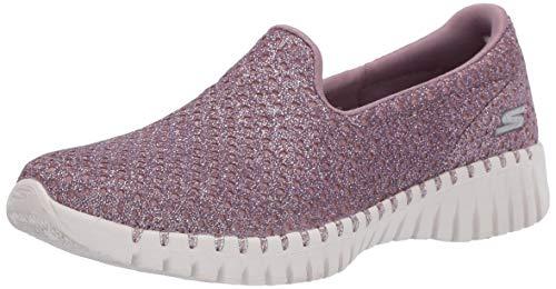 Skechers Women's GO Walk Smart-Light Sneaker, Mauve, 7.5 Medium US