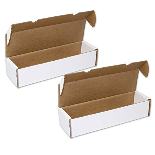 2 Boxes - BCW 1000 Count - Corrugated Cardboard Gaming Storage Box - Trading Card Collecting Supplies