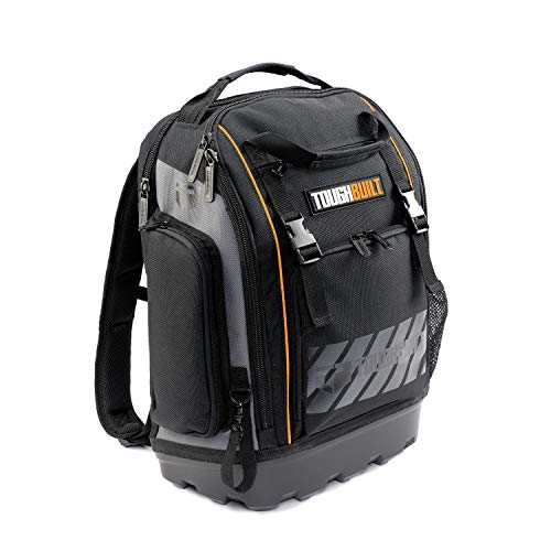 Toughbuilt - Jobsite Tool and Professional Backpack, Fits 13' -17' Laptops, Large Front Flap Provides Easy Access to all Tools, Rugged Off-Road Base, Open and Covered Internal Pockets.