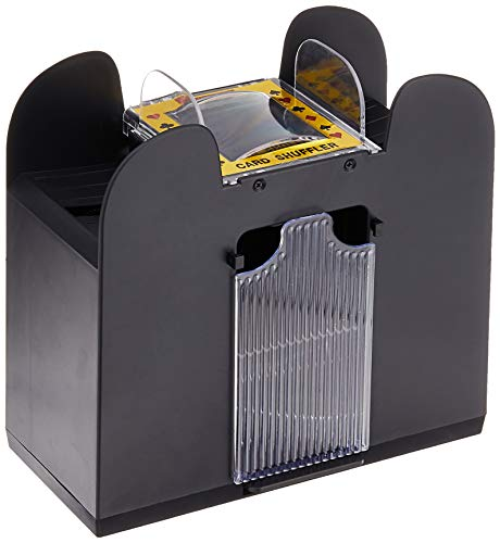 Automatic Card Shuffler – Battery Operated, 6 Deck Playing Card Dispenser – Game Night Casino Equipment and Accessories by Trademark Poker