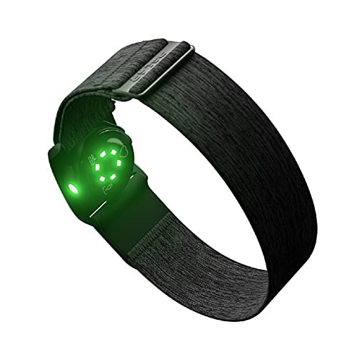 Polar Verity Sense - Optical Heart Rate Monitor Armband for Sport - ANT+ and Dual Bluetooth HRM - Waterproof HR Sensor with only One Button - Compatible with Peloton, Zwift and other apps, Gray, M-XXL