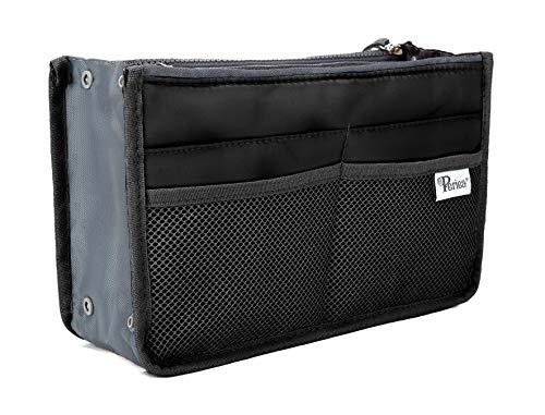 Periea Purse Organizer Insert Handbag Organizer - Chelsy - 28 Colors Available - Small, Medium or Large (Black, Large)