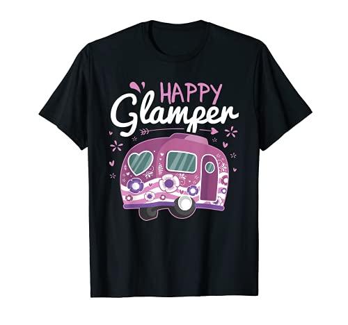 Happy Glamper Caravan Camping Glamping Gear T-Shirt