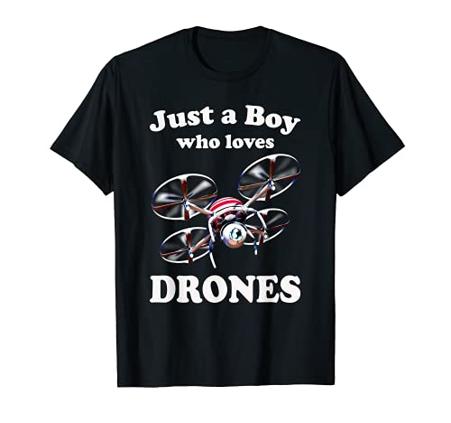 Just Boy Who Loves Drones & Pilot Quadcopter Operator Drone T-Shirt