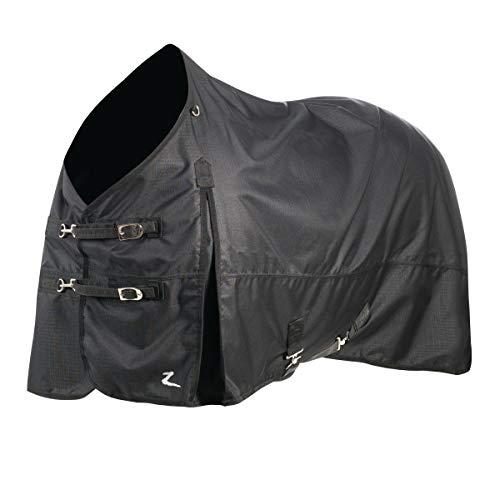 HORZE Nevada Medium Weight 1200D Waterproof Horse Turnout Blanket (200g Fill) - Dakota Black - 75'