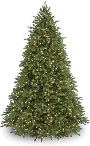 National Tree Company 'Feel Real' Pre-lit Artificial Christmas Tree | Includes Pre-strung White Lights | Jersey Fraser Fir - 7.5 ft