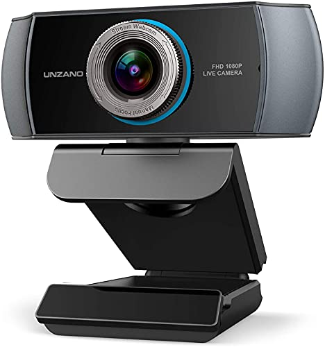 Full HD Webcam 1080P, Streaming Camera, Webcam with Microphone, Wide Angle USB Computer Camera with Facial-Enhancement Technology, WebCam for Desktop Laptop PC Mac, Video Conferencing Skype YouTube