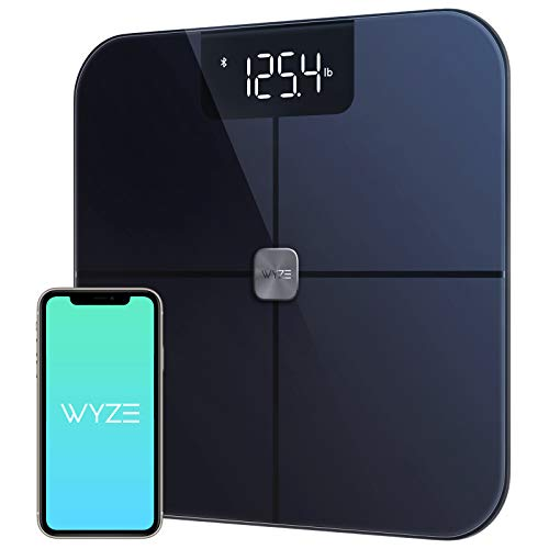 Wyze Smart Scale, Body Fat Scale, Heart Rate Monitor, Wireless Digital Bathroom Scales for Body Weight, BMI, Body Fat Percentage Tracker, Body Composition Analyzer with App, Bluetooth, 400 lbs Black