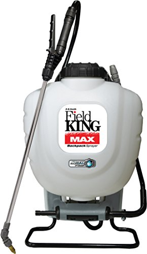 Field King Max 190348 Backpack Sprayer for Professionals Applying Herbicides , White , 4 gallon