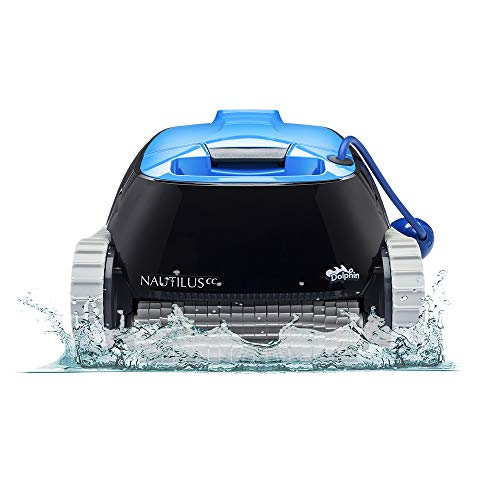DOLPHIN Nautilus CC Robotic Pool [Vacuum] Cleaner - Ideal for Above/In Ground Swimming Pools up to 33 Feet - Powerful Suction to Pick up Small Debris - Easy to Clean Top Load Filter Basket