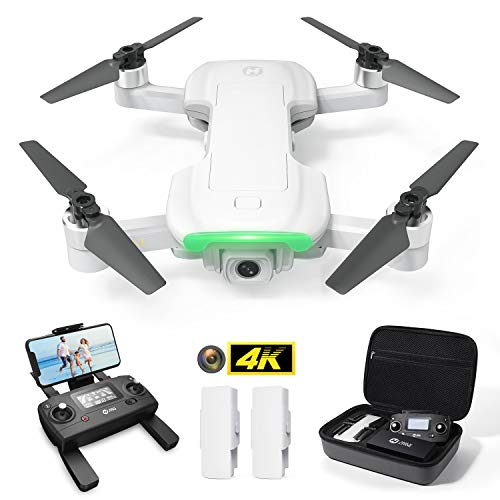 Holy Stone HS510 GPS Drone for Adults with 4K UHD Wifi Camera, FPV Quadcopter Foldable for Beginners with Brushless Motor, Return Home, Follow Me,2 Batteries and Storage Bag, Grey