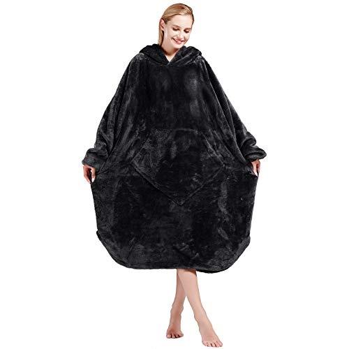 Bobor Blanket Hoodie, Oversized Sweatshirt Wearable Fleece Blanket with Large Front Pocket for Adults, Men, Women, and Kids, Fuzzy, Fluffy, Plush, Soft, Cozy, Warm Flannel Blanket