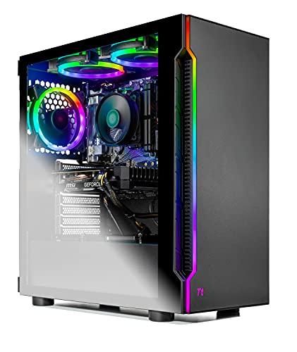 SkyTech Shadow Gaming Computer PC Desktop - Ryzen 5 3600 6-Core 3.6GHz, 1660 Super 6G, 1TB SSD, 16GB DDR4 3000, RGB Fans, AC WiFi, Windows 10 Home 64-bit, Black