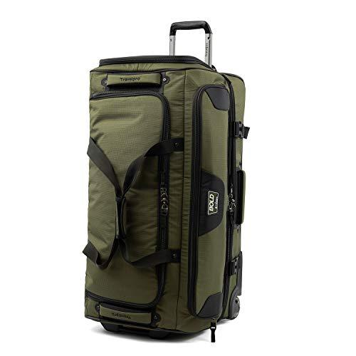Travelpro Bold Drop Bottom Wheeled Rolling Duffel Bag, Olive/Black, 30-Inch