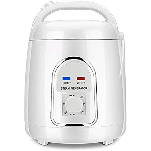 Kacsoo Portable Sauna Steamer Pot, 1.5-1.8 Liters Constant Temperature Generator for Steam Saunas, 110V Suit Home SPA Shower, 900W Home Spa Machine Fumigation Machine for Body Detox Weight Loss