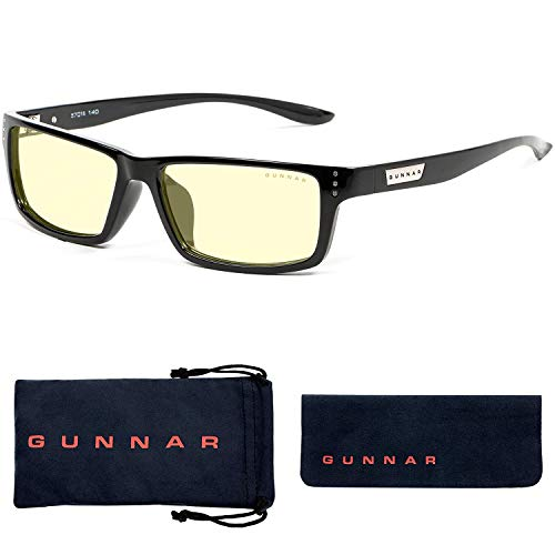Gaming Glasses   Blue Light Blocking Glasses   Riot/Onyx by Gunnar   65% Blue Light Protection, 100% UV Light, Anti-Reflective To Protect & Reduce Eye Strain & Dryness