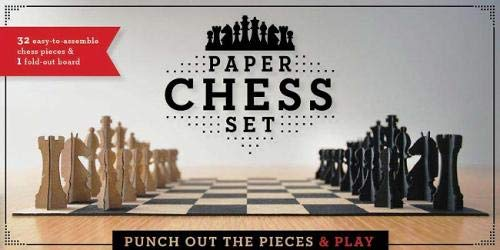 Paper Chess Set: Punch Out The Pieces and Play (Unique Chess Set, Cool Chess Collection, Family Game Night Games)
