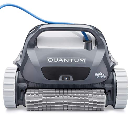 DOLPHIN Quantum Automatic Robotic Pool Cleaner with Extra-Large Filter Basket and Intense Waterline Scrubbing Power, Ideal for In-ground Swimming Pools up to 50 Feet