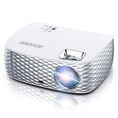 Projector, GooDee HD Video Projector Native 1920x1080P, Outdoor Movie Projector 7500L 300'' Touch Keys Home Theater Projector with 50000 Hrs Lamp Life, Support Fire TV Stick/PS4/HDMI/iOS /Android