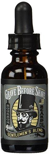 GRAVE BEFORE SHAVE Gentlemen's Blend Beard Oil (Bourbon/Sandal Wood Scent)