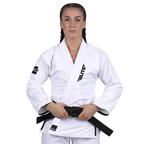Elite Sports Ultra-Light Women's BJJ GI - IBJJF Jiu-Jitsu GI for Women (See Special Sizing Guide) (White, F4)