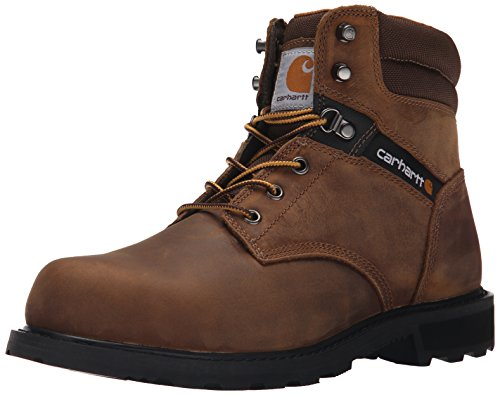 Carhartt Men's Traditional Welt 6' Steel Toe Work Boot Construction, Crazy Horse Brown Oil Tanned, 10.5