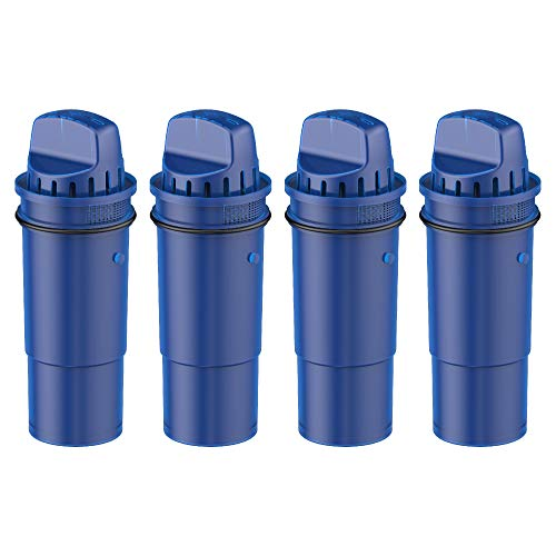 Waterdrop CRF-950Z NSF Certified Pitcher Water Filter, Compatible with Pur Pitchers and Dispensers PPT700W, CR-1100C, DS-1800Z and PPF951K, PPF900Z Water Filter, Pack of 4