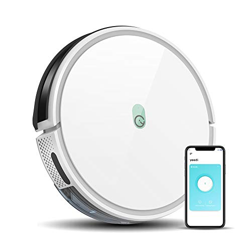 yeedi k650 Robot Vacuum, 2000Pa Wi-Fi Robotic Vacuum Cleaner with 800ML Big Dustbin, Works with Alexa, Good for Pet Hair, Carpets, Hard Floors, Self-Charging, Compatible with Boundary Strips