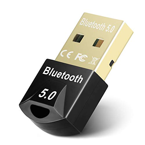 Bluetooth Adapter for PC, Maxuni USB Mini Bluetooth 5.0 Dongle for Computer Desktop Wireless Transfer for Laptop Bluetooth Headphones Headset Speakers Keyboard Mouse Printer Windows 10/8.1/8/7