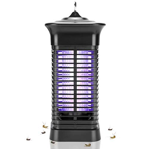 Bug Zapper, 4000V High Powered Electric Mosquito Zapper, Fly Trap for Indoor and Outdoor, Waterproof Mosquito Killer with 15W Mosquito Light Bulb for Home, Bedroom, Kitchen, Office, Backyard, Patio……