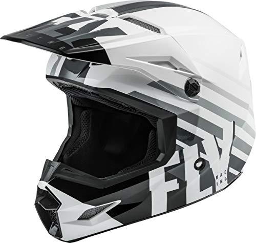 FLY Racing Kinetic Thrive Helmet, Full-Face Helmet for Motocross, Off-Road, ATV, UTV, Bicycle and More (White/Black/Grey, Medium)