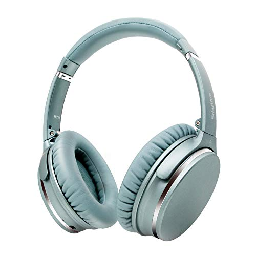 Active Noise Cancelling Stereo Headphones Bluetooth 5.0,Srhythm NC25 (Upgrated 2020) ANC Headset Over-Ear with Hi-Fi,Mic,50H Playtime,Voice Assistant,Low Latency Game Mode