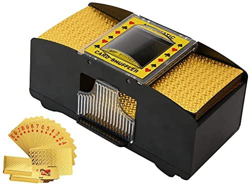 Automatic Card Shuffler,2 Decks Poker Shuffler Portable Card Shuffler,Battery-Operated Playing Card Shuffler for Casino,Club Gaming and Home Party