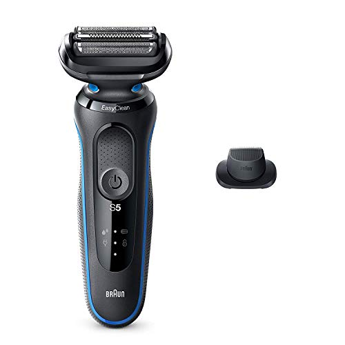 Braun Electric Razor for Men, Series 5 5018s Electric Foil Shaver with Precision Beard Trimmer, Rechargeable, Wet & Dry with EasyClean