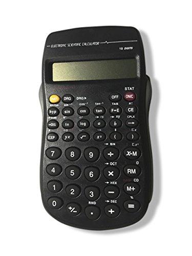 Scientific Calculator 10 Digit Memory Display 56 Functions - Negatives, Percentages, Ratios, Exponents & Roots, Algebra, Geometry, Statistics, Negative Decimal Exponents. i.e. 3 ^ -1.5