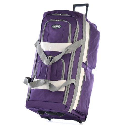 Olympia 8 Pocket Rolling Duffel Bag, Dark Lavender, 29 inch