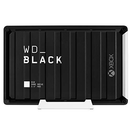 WD_Black 12TB D10 Game Drive for Xbox, Desktop External Hard Drive HDD (7200 RPM) with 1-Month Xbox Game Pass - WDBA5E0120HBK-NESN