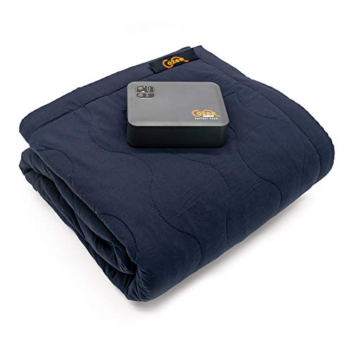 Cozee Heated Blanket Battery Operated Portable Outdoor Cordless Heating Blanket. 60' x 60' Fleece Throw for Adults, Kids, Cold Weather Camping, RV