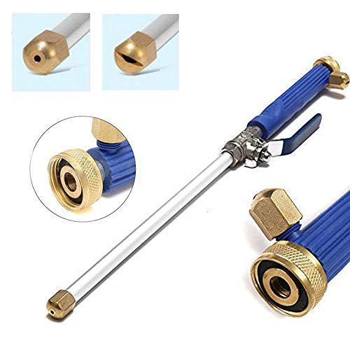 Hydro Jet High Pressure Washer Wand, Portable High Pressure Water Gun, Extendable Washer Sprayer with 2 Water Hose Nozzle for Garden Hose, Foam Cannon Car Washing