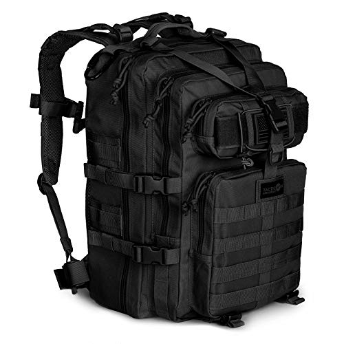 24BattlePack Tactical Backpack | 3 Day Assault Pack | 40L Bug Out Bag | Combat Veteran Owned Company (Black)