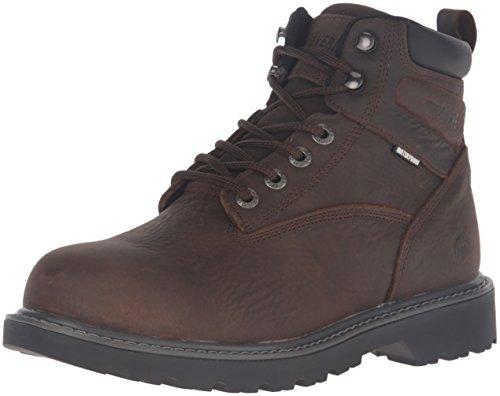 WOLVERINE Men's Floorhand Waterproof 6' Steel Toe Work Boot, Dark Brown, 10 M US