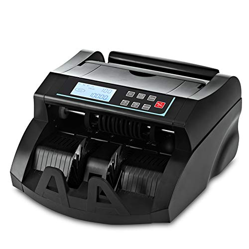 Money Counter DOMENS UV/MG Counterfeit Detection Bill Counting Machine US Dollar Currency Banknote Counter Selected Single Denomination to Calculate Total Monetary Value Add Batch Modes LCD Display