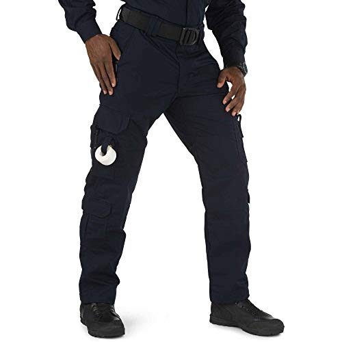 5.11 Men's Taclite EMS Pant, Adjustable, Gusseted Construction, Style 74363, Dark Navy, 36W x 30L