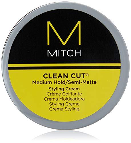 Paul Mitchell Mitch Clean Cut Medium Hold/Semi-Matte Styling Cream for Men, 3 Ounce